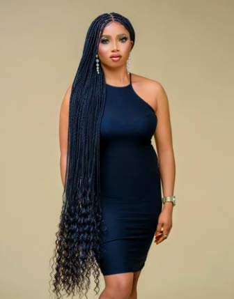 Braided Wigs, IMANI BRAIDS Twisted Wigs, Micro Million Twist Wig - Color 1-18 Inches. Synthetic Hand Braided Wigs for Black Women, 1