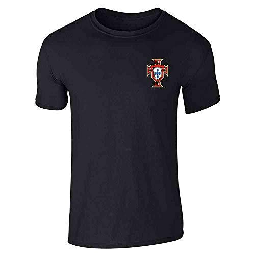 Portugal Soccer Retro National Team Football Black 5XL Graphic Tee T-Shirt for Men
