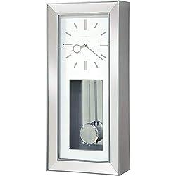 Howard Miller Chaz Wall Clock 625-614 – Satin Silver Quartz & Single Chime Movement