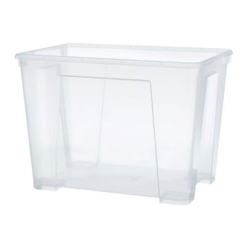 IKEA SAMLA Box 22 Liter; transparent