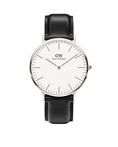Daniel Wellington Herren Analog Quarz Uhr mit Leder Armband DW00100020