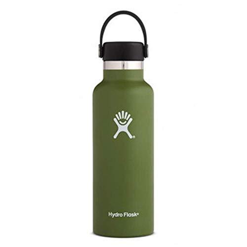 ZYLLL Wasserflasche aus Edelstahl und vakuumisoliertem Standardmund mit auslaufsicherer Flexkappe Olive 750ml