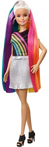 Barbie️ Rainbow Sparkle Hair Doll