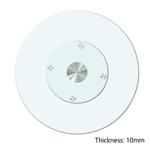 20/24/28/31/35/39 inch aluminiumlegering Faul Susan glazen platenspeler gehard glas huis 360 ° draaibare ronde tafel platenspeler kan worden gebruikt voor familie/hotel eettafel.