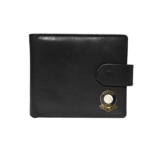 Cardiff City Football Club Black Leather Wallet