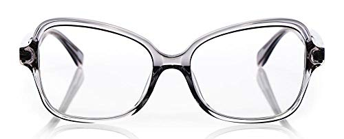 Go Lightly Premium Readers for Women   Cat-Eye Eye Glasses  Lavender Crystal Shiny Front with Lavender Crystal Shiny Temples   2.75