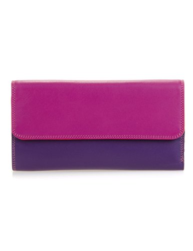 Portafoglio donna in pelle - MYWALIT -Tri-fold Zip Wallet - 269-75 - Sangria