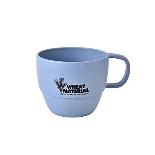 PanDaDa Tasse Ronde,Mugs de Lait,Mug pour Enfant,Mug, Tasse en Blé, Tasse d'apprentissage,Bleu
