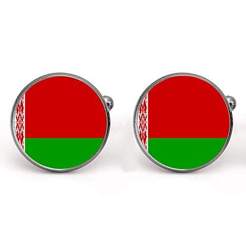 Gemelli da uomo per camicia, Bielorussia e Bulgaria in vetro cabochon francese gemelli in panno di rame accessorio charm gioielli regalo all'ingrosso