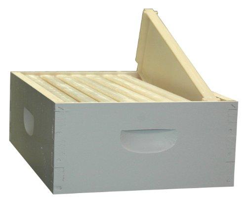 8-Frame Assembled Painted Honey Super Kit, Standard Plastic Frames, Made in The USA