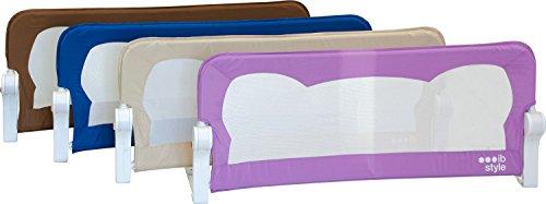 IB-Style Barrière de lit FINN| 4 Tailles | 4 Couleurs | Portable - Rabattable avec Safetybutton | Sécurité | Bedrail | Safetyguard 150cm x 42cm Beige