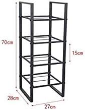 XDDDX Shoe Rack Multi-Layer Wrought Iron Simple Doorway Home Modern Minimalist Creative Solid Wood Storage Rack Rack (Colo...