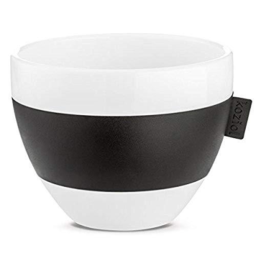 Koziol 3571526 Aroma M Isotherme Tasse 270 ML, thermoplastique Plastique, Blanc avec Noir, 9,4 x 10.199 x 7.2 cm