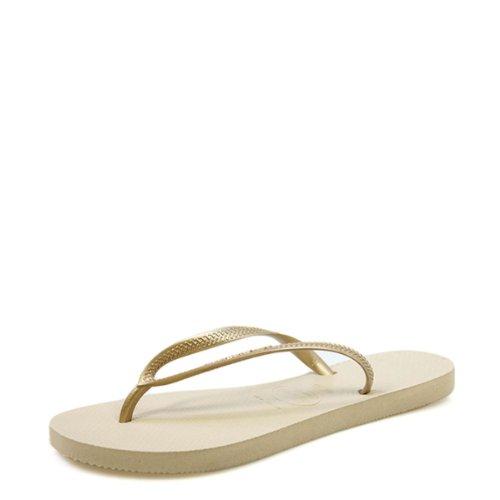 Havaianas Slim, Chanclas Mujer, Dorado (Sand Grey/Light Golden 2719), 39/40 EU