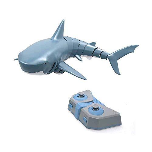 N /A Juguete de Control Remoto Shark, Juguete de tiburón eléctrico, RC Shark Fish Boat Submarino Mini Radio Control Remoto Electronic Swimmer Shark Bath Toy 2.4ghz Toy para niños