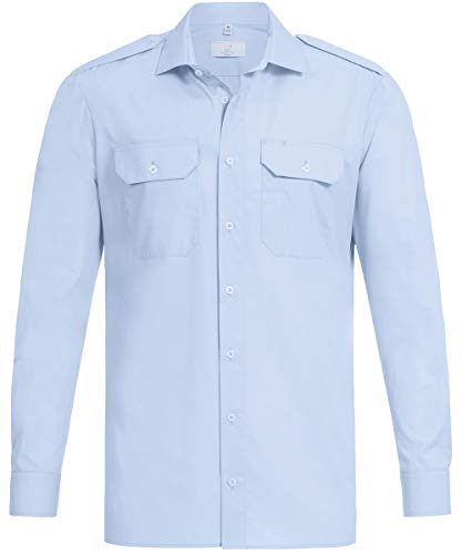 GREIFF Herren Pilothemd Corporate WEAR 6730 Basic Regular Fit - Bleu - Gr. 41/42