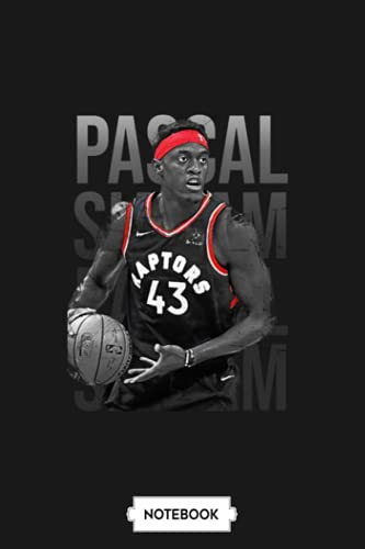 Pascal Siakam Notebook: 6x9 120 Pages, Journal, Diary, Planner, Matte Finish Cover, Lined College Ruled Paper