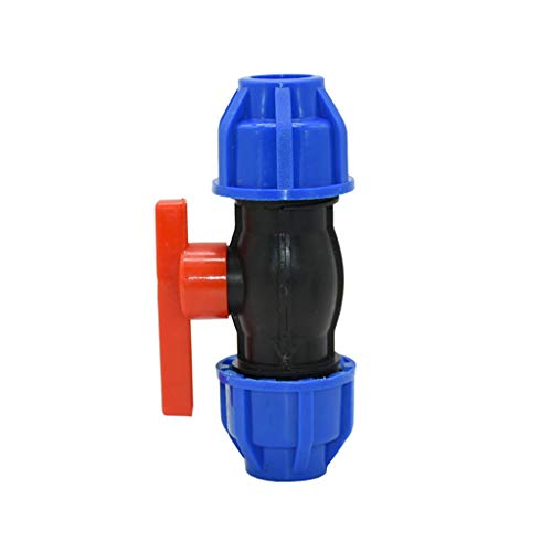 MDD Valvola A Sfera per Tubi dell'Acqua 1/2'3/4', DN15 DN20 DN20 PVC PE PPR Tubo Giardino Giardino VALVOLA Acqua VALVOLA Acqua VALVOLA Accendere ACCENDERS (Size : 20MM)