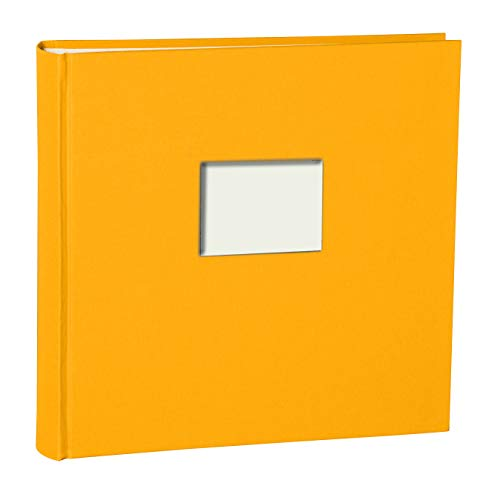 Semikolon (360332) Fotoalbum Finestra XL Sun (Gelb), 130 S. cremew. Fotokarton, Pergaminpapier, Fenster für Titelbild