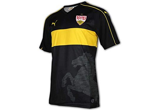 Puma VfB Stuttgart 3rd Jersey schwarz VfB Alternativ Fußball Trikot Bundesliga, Größe:L