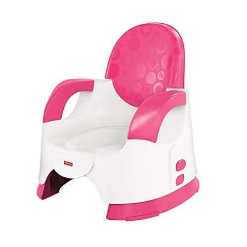 Mattel Fisher-Price, Vasino per bambini, con schienale rialzato e braccioli, Rosa (pink, weiß)