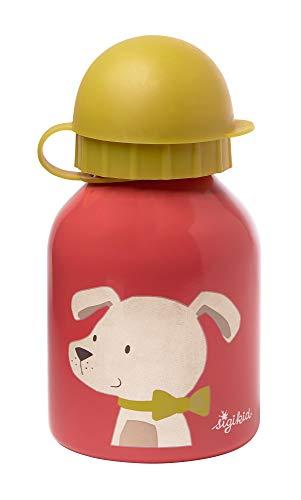 SIGIKID 25027 - Botella de acero inoxidable para perros, para niños y niñas, accesorios recomendados a partir de 3 años, color rosa, 250 ml