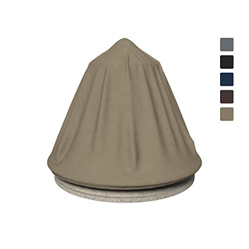 Fountain Cover 12 Oz Waterproof - Customize Cover with Any Size - 100% UV & Weather Resistant Water Fountain Cover with Air Pocket and Elastic with Snug Fit (40' Dia x 52' H, Beige)
