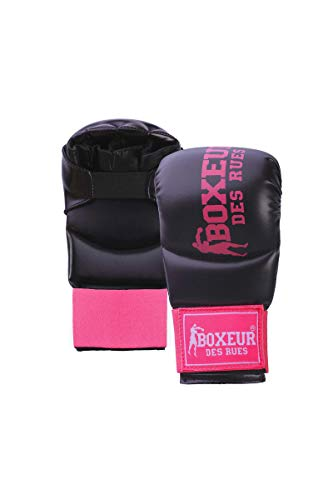 BOXEUR DES RUES - Karate And Fit-boxing Gloves In Black And Fuchsia Pink, Unisex