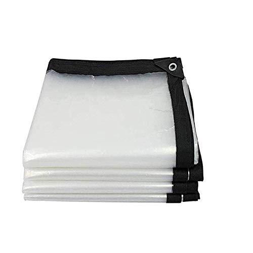Telone impermeabile trasparente per esterno,Tessuto Esterno in Plastica per Tenda da Sole ,Telone Occhielli Impermeabile Copertura Telone da Telo Occhiellato Retinato Terra Tenda All'aperto