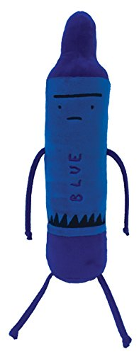 MerryMakers The Day the Crayons Quit Blue Plush Toy, 12-Inch