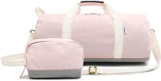 BEESCLOVER Yoga Fitness Gym Bag Canvas Handbags Sports Travel Bags Women Tas Travel Training Pink Sac De Sport 2 PCS Sets Duffle XA574WA