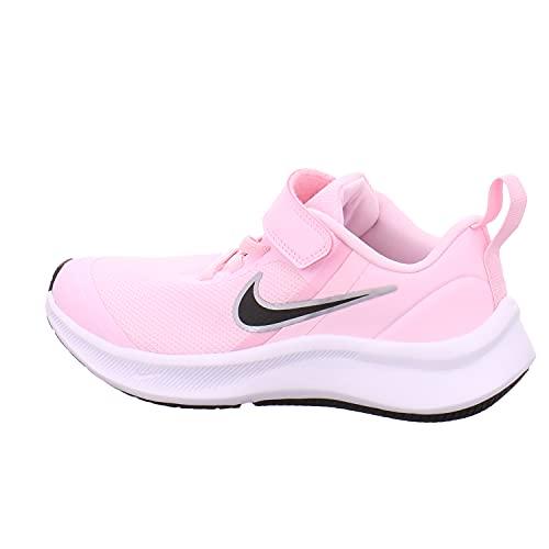 Nike Star Runner 3, Zapatos de Tenis Unisex niños, Pink Foam Black, 28 EU