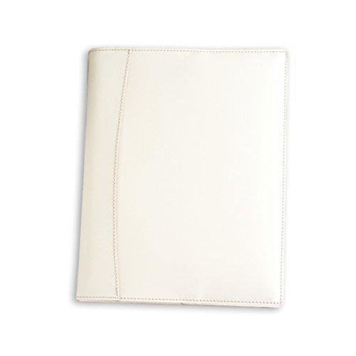 (手作り革雑貨ブラン・クチュール)BlancCouture 本革手帳カバー「B5サイズ」ノートカバー/国産フルタンニンドレザー/パーツを追加してセミオーダー可(フレンチホワイト)