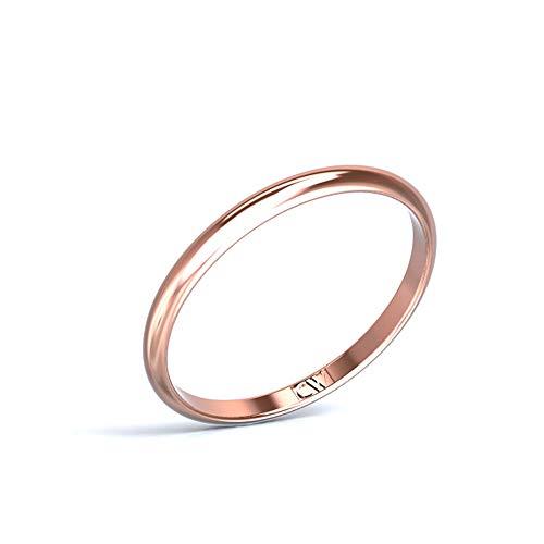 Alianza oro rosa Rhea mujer Cristina Wish 2-1,2 mm, todos los tamaños disponibles (24)