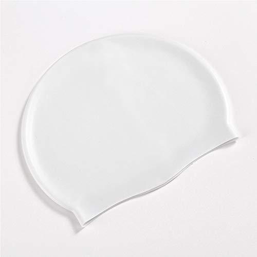サントレード シリコン水泳帽 スイミングキャップ 防水 男女兼用 長い髪 (ホワイト)