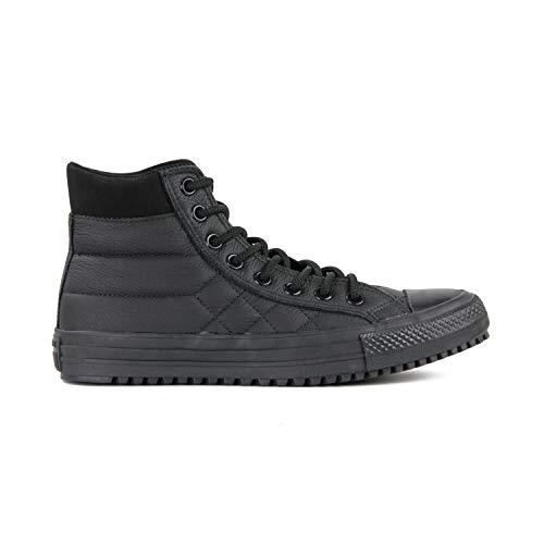 Converse Chuck Taylor All Star High Classic CTAS Hi Unisex Canvas Sneaker mit 7kmh Aufkleber Schwarz 3113 40