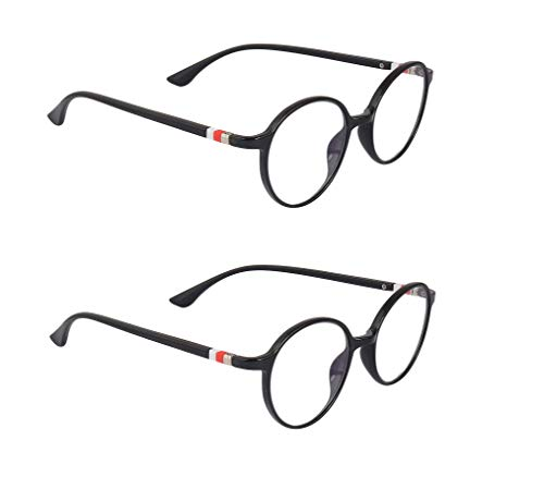 Optify Combo Zero Power Blue Light Blocking Computer Glasses, Reduce Eye Strain Anti Glare Clear Lens Video Eyeglasses For Men Women