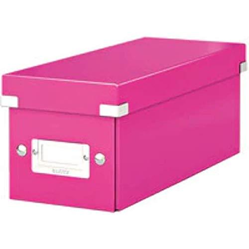 Leitz CD Aufbewahrungsbox, Blau, Mit Deckel, Click & Store, 60410036