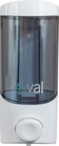 OVAL Dispensador de Gel Antibacterial y de Jabón Líquido | Dispensador de Gel Rellenable | Color Blanco, Capacidad de 500 ml,...