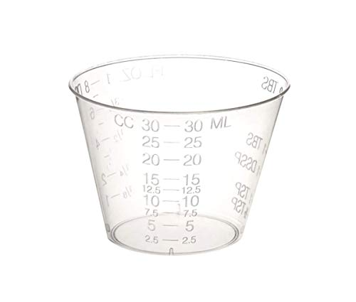 400 Epoxy Resin Mixing Cups (1 Ounce) Graduated Plastic