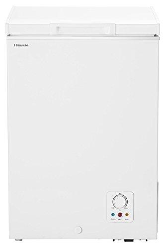 Hisense GT98A++ Gefriertruhe / 84 cm Höhe / 133 kWh/Jahr/L Kühlteil / 98 L Gefrierteil/A++ Energieeffizienz/Geräuschdämmendes Design/weiß