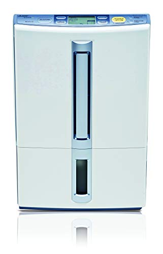 Mitsubishi Electric MJ-E14CG-S1, Deumidificatore 260 W, 220 V, 50 Hz, Bianco/Blu
