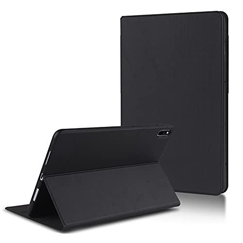 AChris Funda Huawei Mate Pad Pro 10.8' Funda Tablet de Cuero PU con Modo Automático de Reposo/Actividad Función de Soporte Impermeable Magnético Cubierta Protectora a Prueba de Golpes, Negro