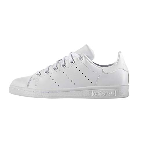adidas Unisex-Kinder Stan Smith J Gymnastikschuhe, Weiß White S76330, 38 2/3 EU
