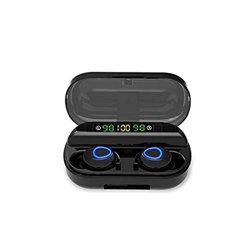 JJZXD Función Auricular Bluetooth Touch con la Caja de Carga inalámbrica estéreo de Auriculares en la Oreja Micrófono Incorporado Auriculares Deportes Subwoofer