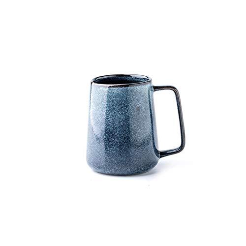 Taza de café Taza de cerámica de la gran capacidad de la taza de la maceta con forma de cono de cono de cono retro de estilo 550 ml de la taza de café para hombres adecuado para las tazas de agua del