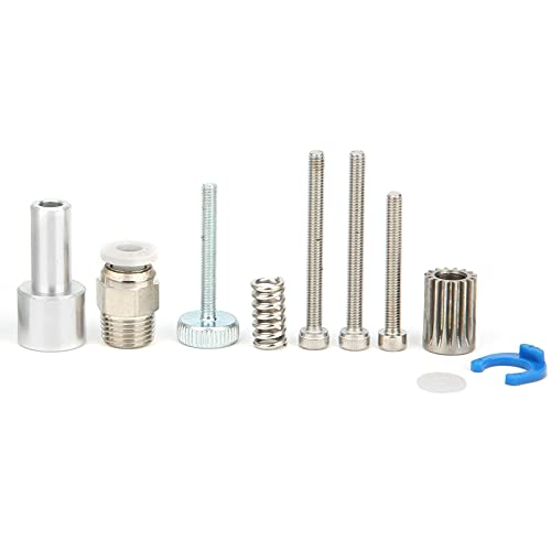 3D Printer Extruder, Full Metal Silver 1.75mm Dual Extruder for 3D Printer(Left Hand)