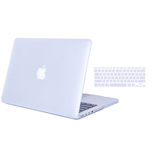 DWON MacBook Case Pro 13 Inch with Retina with Keyboard Cover and Dust Plug for Apple MacBook Pro 13 Inch Sleeve Model (A1502/A1425, Version 2015/2014/2013/end 2012) - Clear/Crystal
