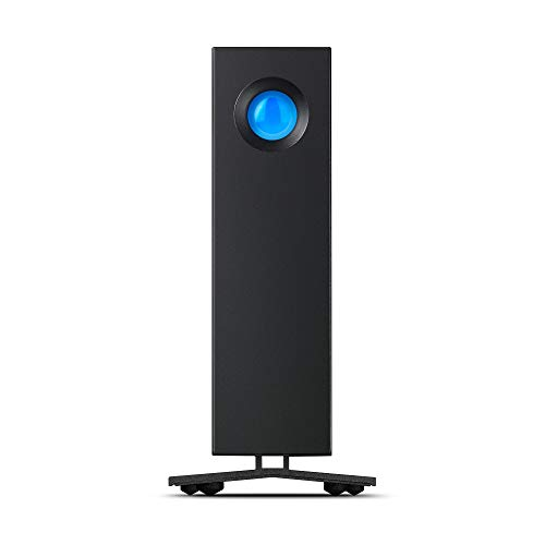 LaCie STHA10000800 10 TB d2 Professional USB-C + USB 3.0 Desktop External Hard Drive for PC and Mac - Space Grey