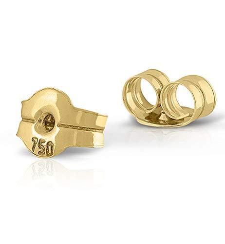 Tuerca tornillo en oro de 18k/ repuesto para tus aretes pendientes/sirve para todos los modelos. Máxima calidad y seguridad. (